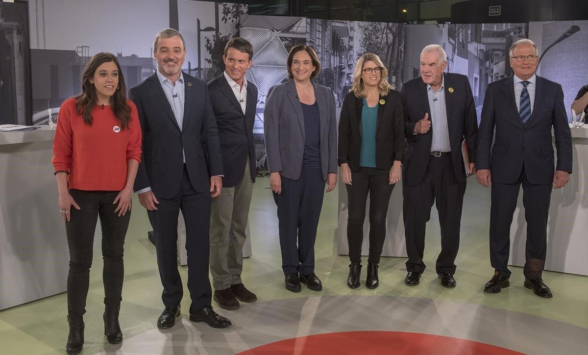 Los alcaldables de Barcelona, en el debate de Betevé.