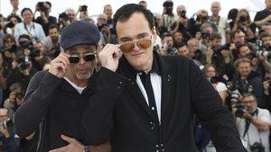 Brad Pitt y Tarantino, en la edición del 2019 del festival de Cannes.