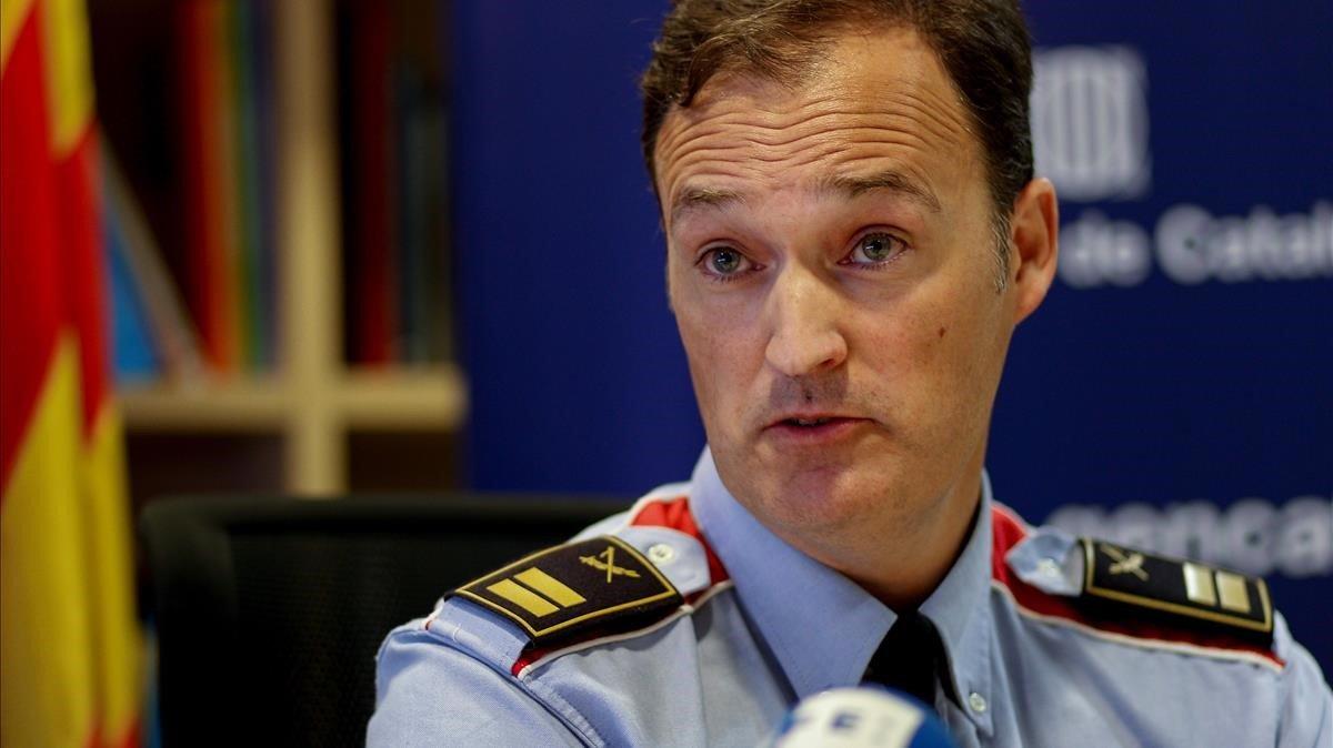 El comisario jefe de los Mossos d'Esquadra, Eduard Sallent.