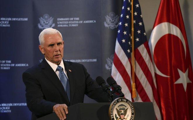 Pence anuncia un alto el foc en ofensiva turca a Síria