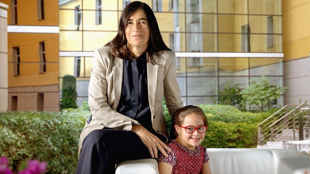 Maria Blasco, con Miriam.