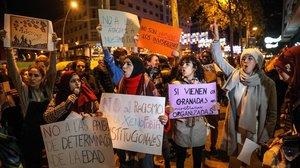 Protesta antiracista el pasado mes de diciembre en Barcelona.