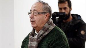 el exgerente Ángel Vizcay, declarando ante el juez, el pasado enero.