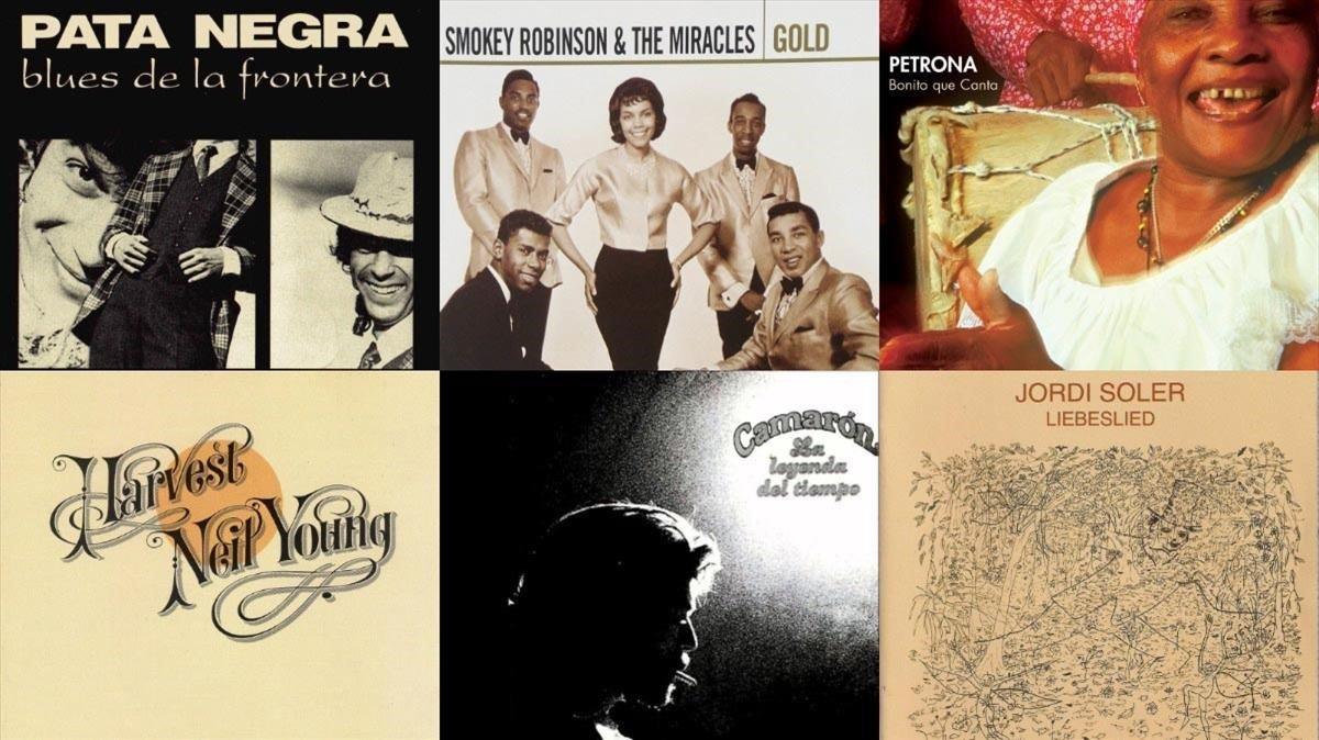 Algunas de las portadas de los discos elegidos.