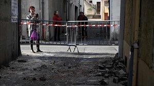 Zona afectada por el terremoto en la localidad de Le Teil, en Francia.