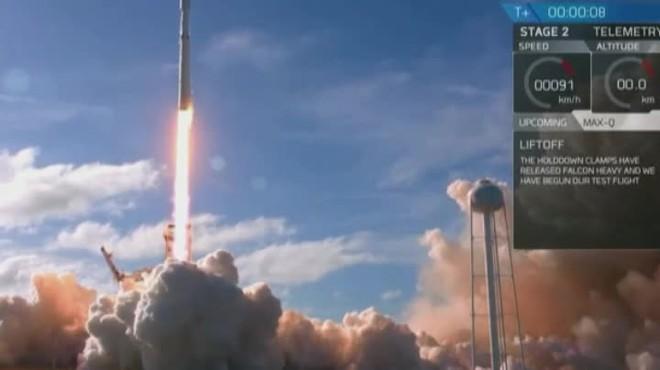 Hito espacial: despega con éxito el cohete más potente del mundo