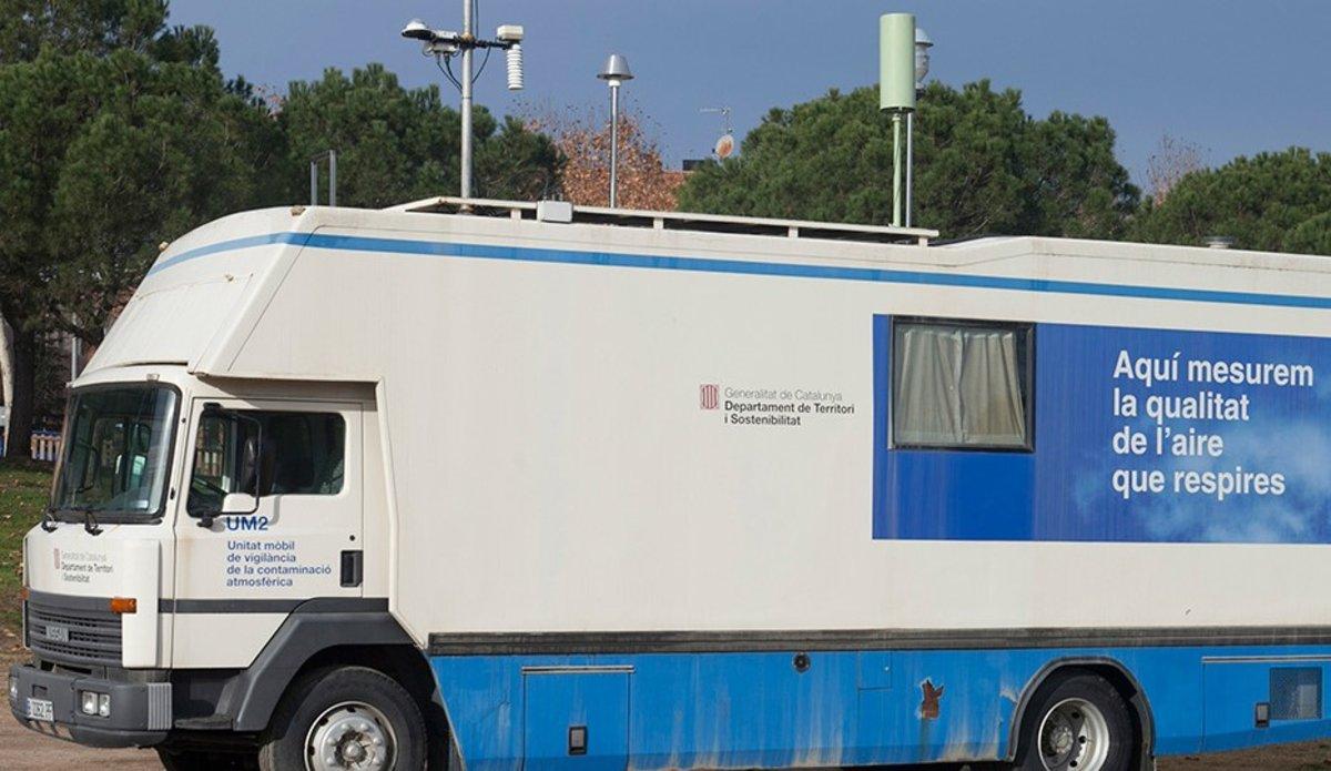 Unidad móvil de vigilancia de la contaminación atmosférica.
