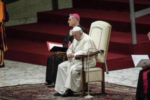 El papa Francisco preside su tradicional audiencia general de los miercoles en la sala Nervien el Vaticano .EFEGiuseppe Lami