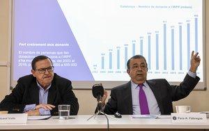 Ricard Valls, consultor experto en fundaciones, y Pere A. Fàbregas, presidente de la Coordinadora Catalana de Fundacions.