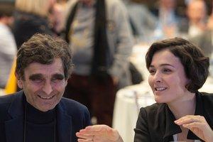 Adolfo Domínguez y su hija Adriana.