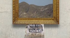 Destrucción banksyana del hotel de El Algarrobico.