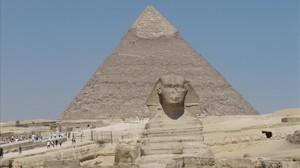 Imagen del conjunto arqueológico de Guiza, en Egipto.