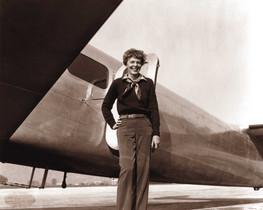 La aviadora estadounidense Amelia Earhart.