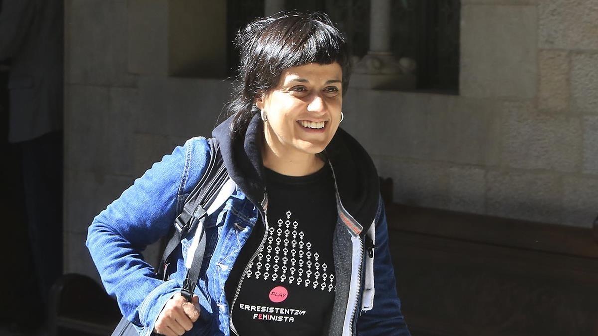 Anna Gabriel, sonriente, en una imagen de archivo.