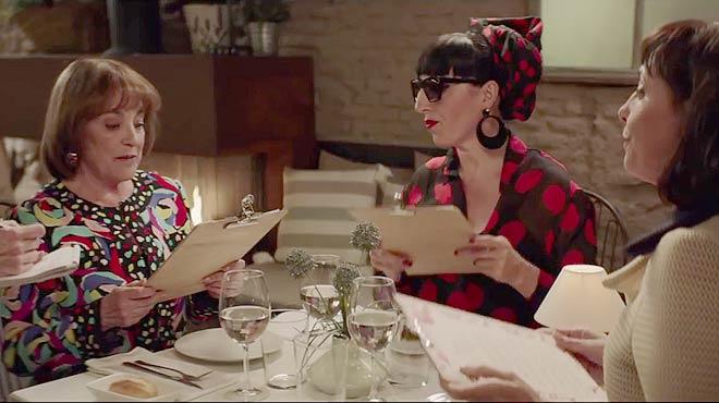 Carmen Maura, Rossy de Palma y María Barranco, en el anuncio Deliciosa calma de Campofrío.