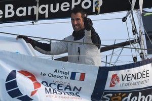 Armel Le Cléach , vencedor de la Vendée Globe 2017.