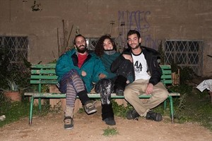 Artistas de barrio 8Roberto Sánchez, Elena Álvarez y Álvaro Segura.
