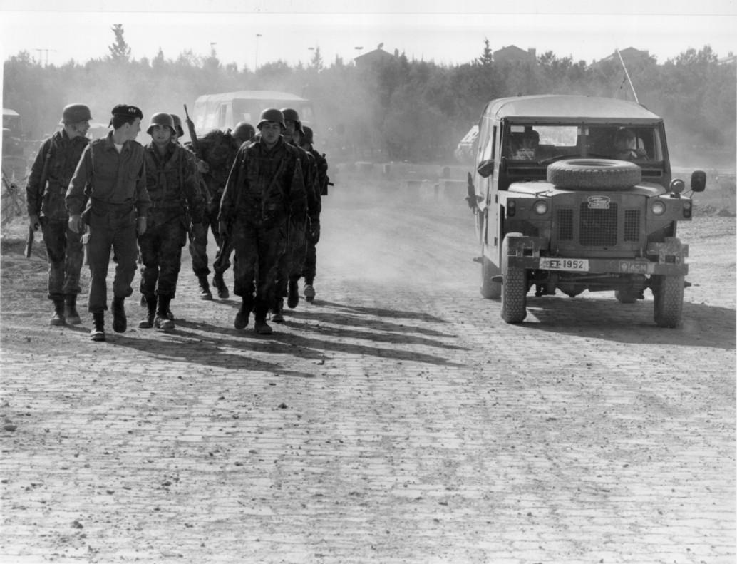 Soldados, durante el servicio militar.