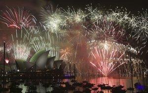 Los fuegos artificiales de Año Nuevo en Sídney.