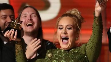 La cantantAdele, en la cerimòniadels premis Grammy aLos Angeles.