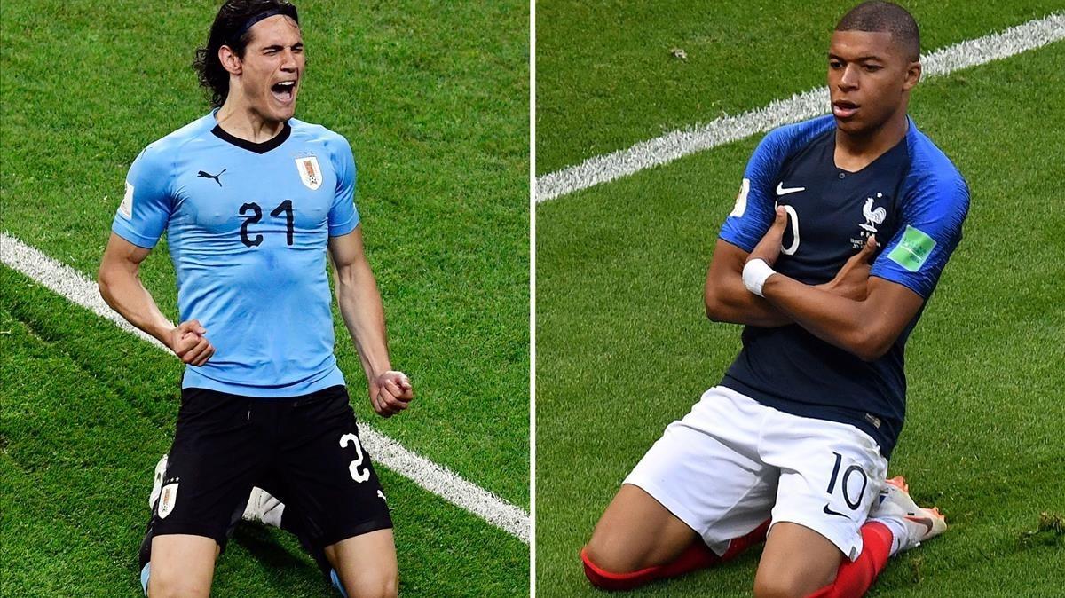 Cavani y Mbappé, dos protagonistas claros de este Mundial.