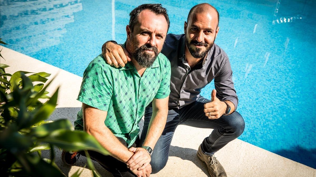 Caye Casas y Albert Pintó, en el estreno de 'Matar a Dios' en Sitges-2017