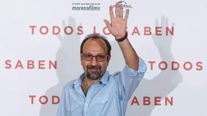 El cineasta iraní Asghar Farhadi, en Madrid, durante la presentación de Todos lo saben.