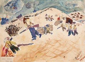La guerra civil española, dibujada por un niño hace 80 años.