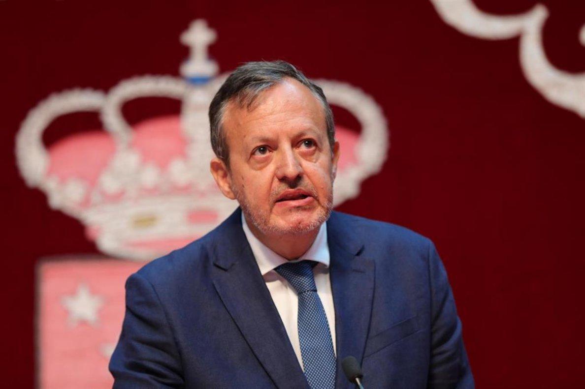 El consejero de Políticas Sociales, Familias y Natalidad de la Comunidad de Madrid, Alberto Reyero.