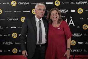 El 'conseller' de Cultura en funciones, Ferran Mascarell, y la presidenta de Acadèmia del Cinema, Isona Passola.