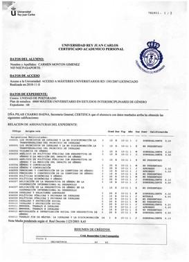 La documentación aportada por Carmen Montón.