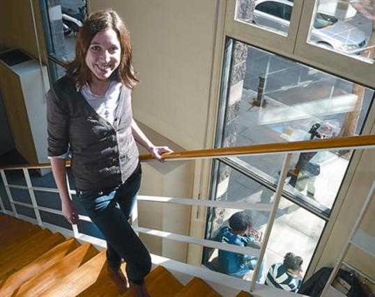 La escritora y periodista Llucia Ramis. la pasada semana en Barcelona.