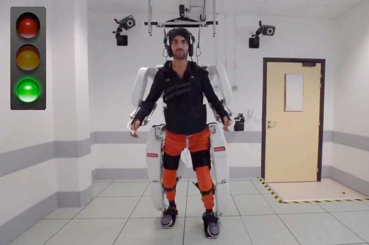 El exoesqueleto desarrollado por investigadores franceses.