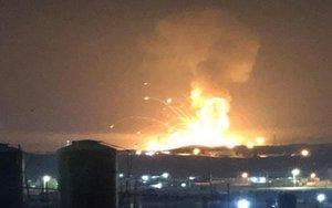Explosión en un almacen militar en Jordania.