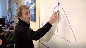 Fernando Simón, director del Centro de Coordinación de Alertas y Emergencias, explica la curva del coronavirus.