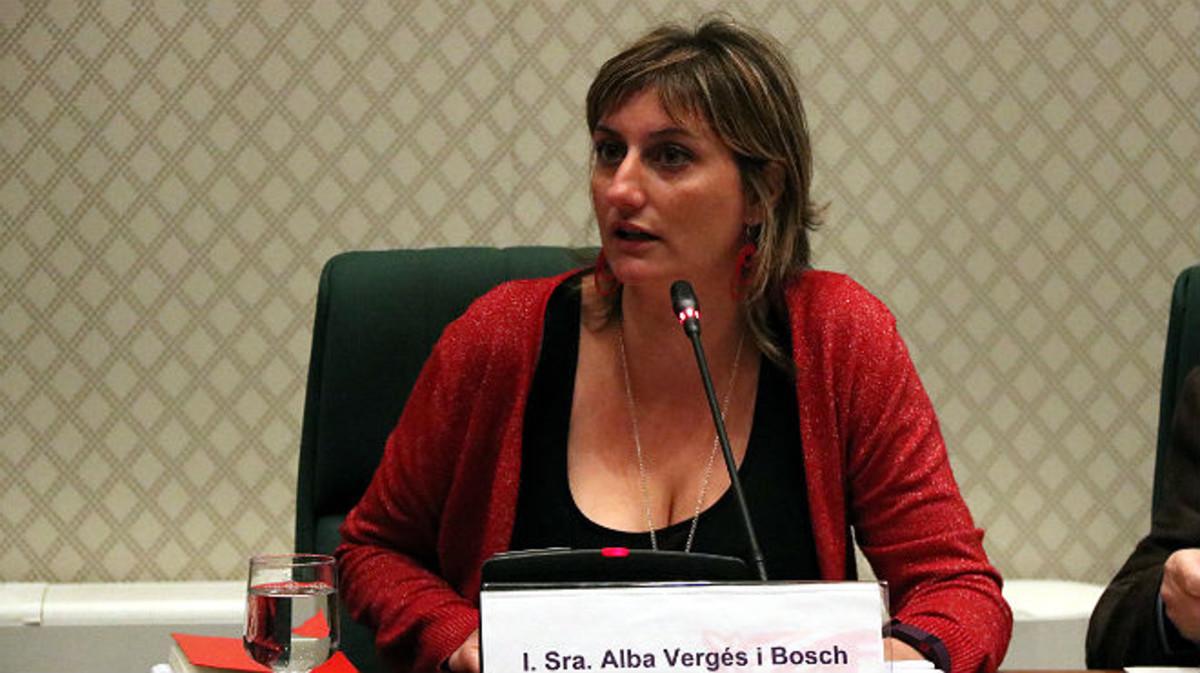 Alba Vergés, presidenta de la comisión de investigación sobre la operación Cataluña.
