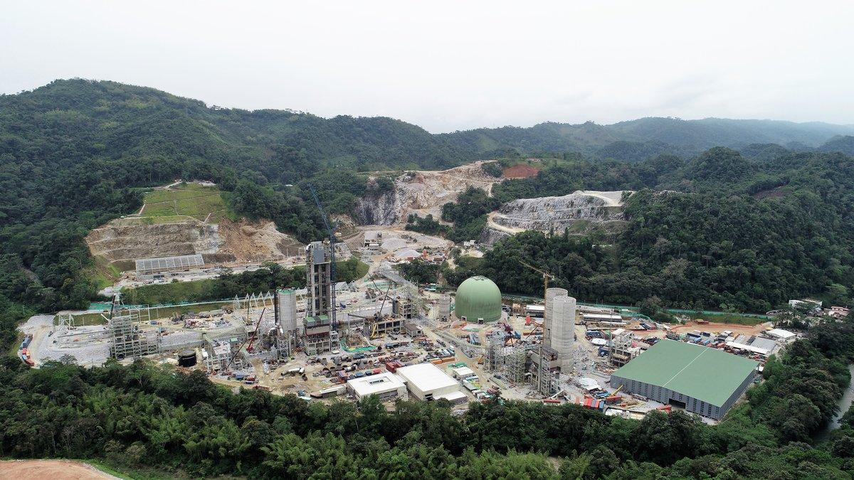 Fábrica que Cementos Molins está construyendo en Colombia.