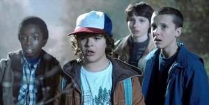Un fotograma de la serie de Netflix Stranger things.
