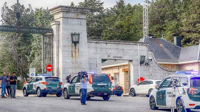 """Enfrentamientos puntuales en el Valle de los Caídos: """"Arriba hay lío"""""""