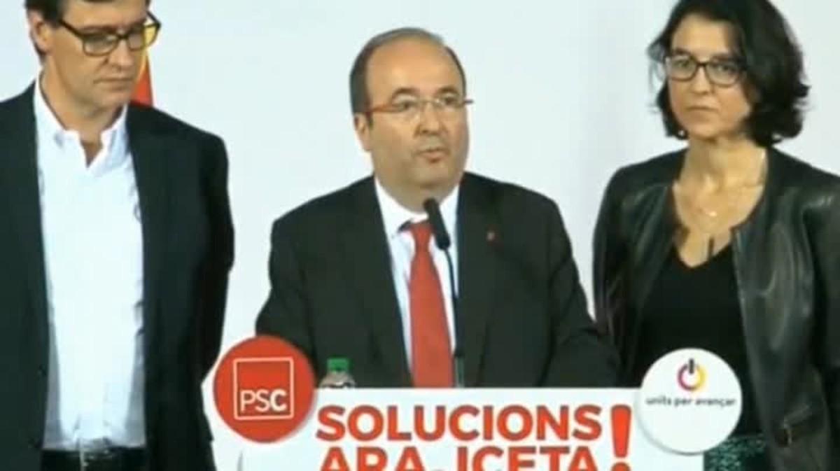 Iceta (PSC) afirma que el independentismo puede gobernar.