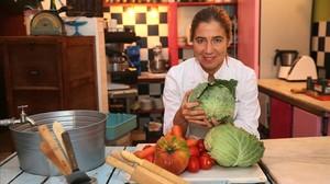Ada Parellada en su restaurante Semproniana de Barcelona, este martes.