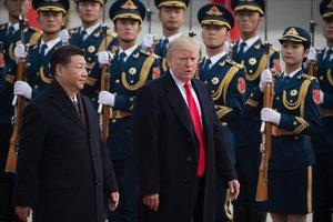 Xi Jinping y Donald Trump, en la cumbre de Pekín del 2017.
