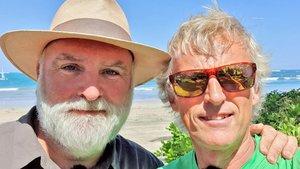 José Andrés y Jesús Calleja en Puerto Rico grabando una nueva entrega de 'Planeta Calleja'.