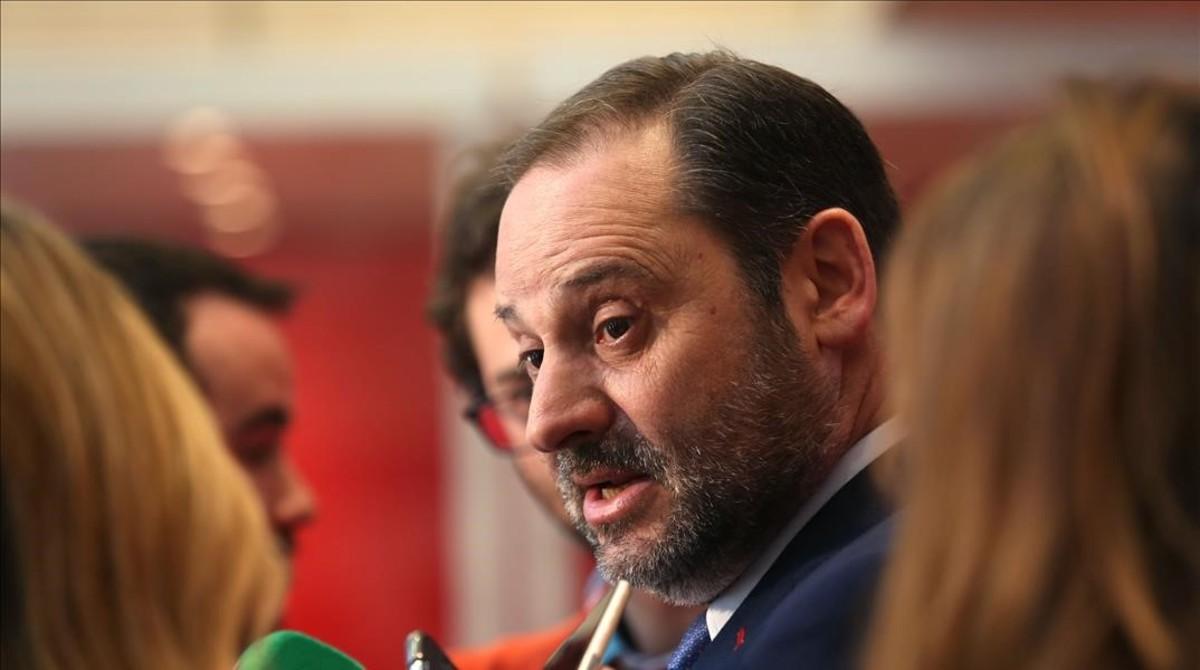 José Luis Ábalos, el pasado 28 de marzo en la sede del PSOE.