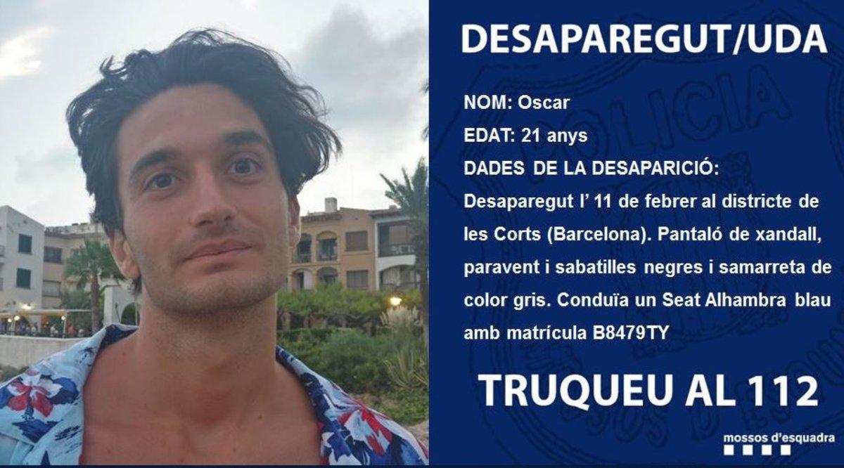 El joven desaparecido.