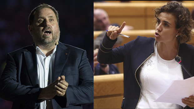 Rifirrafe entre Junqueras y la ministra Montserrat en la radio