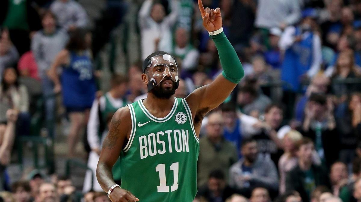 Kyrie Irving, durante el partido de los Celtics contra los Mavericks.