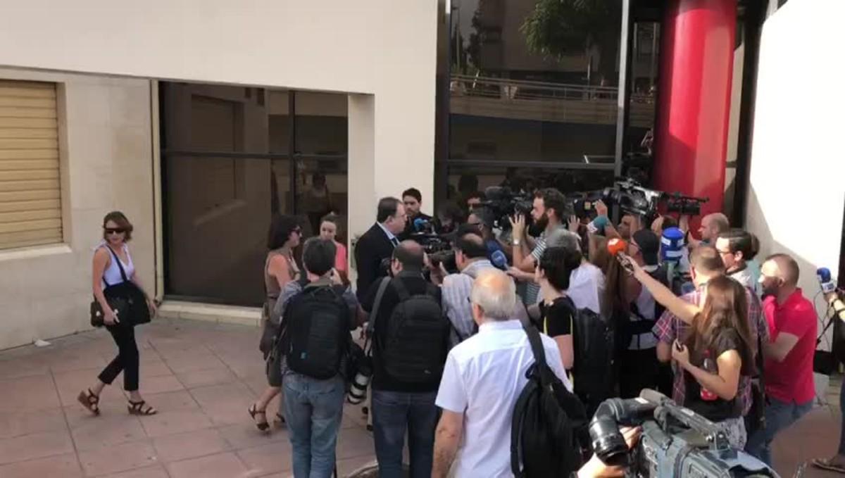 Así ha sido la llegada de Juana Rivas a los juzgados.
