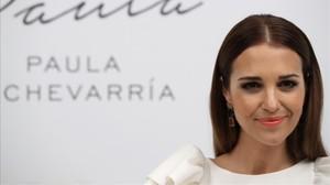 Paula Echevarría, el pasado 5 de abril, en la presentación de su perfume Sensuelle en Madrid.
