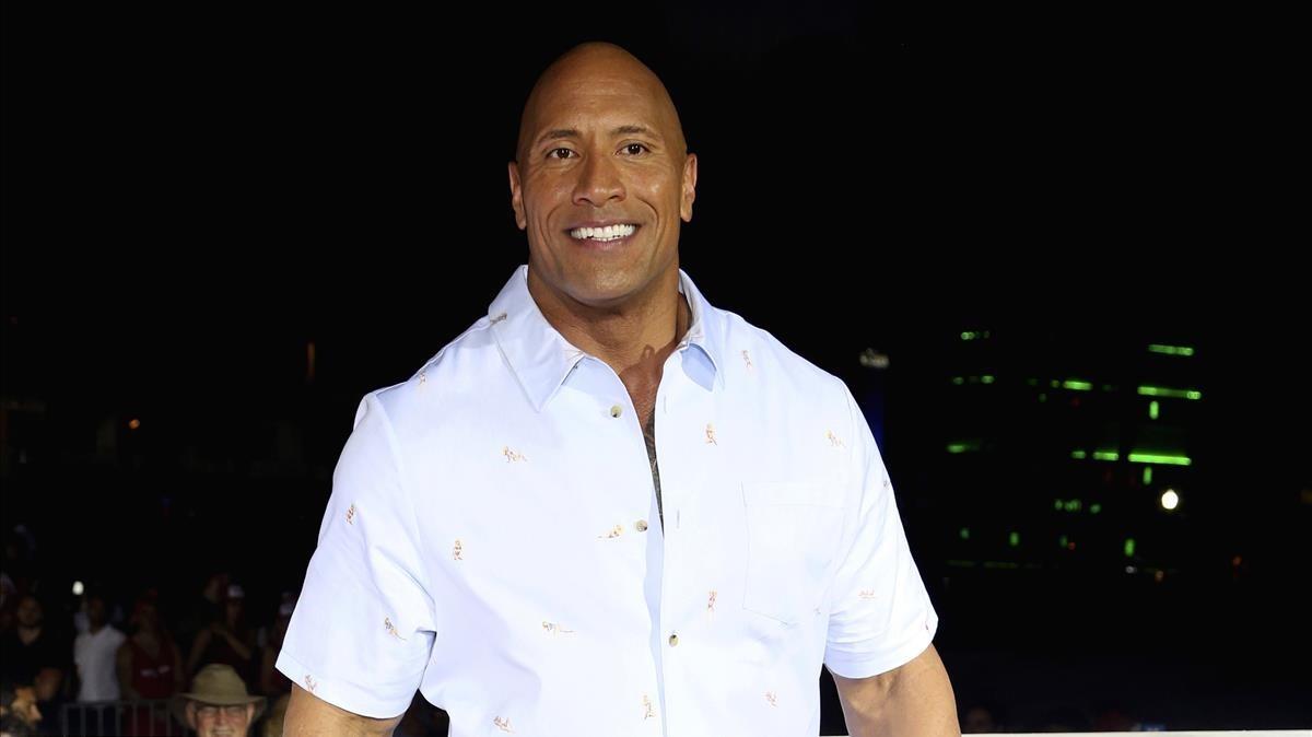 Dwayne Johnson, en el estreno de Baywatch, los vigilantes de la playa, en Miami, el pasado mayo.